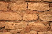 Historische sonnengetrocknete Brick Wall Background