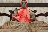 Pindola divinity wooden statue at Todaiji temple, Nara, Japan