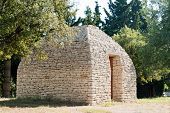 Ancient hut from the bories in the French Luberon