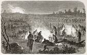 American civil war: Federal army encampment in Fredericksburg surroundings. Created by Janet-Lange,