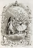 New year allegoric representation. Created by Pauquet, published on L'illustration, Journal Universel, Paris, 1863
