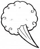 cartoon comic book gust of wind