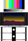 stock photo of high-def  - HDTV and real 16x9 video test pattern color - JPG