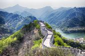 The Great Wall Of China At The Huanghua Cheng Scenic Area  In The West Of Beijing China On A Sunny S poster
