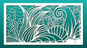 Laser Cut Panels, Vector. Template Or Stencil For  Metal Cutting, Wood Carving, Paper Art, Fretwork, poster