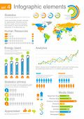 Human resources Infographics elements with icons. For business and finance reports, statistics, diagram graph
