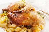 Chicken roasted with potato