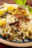 Biryani on the plate