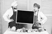 Learning How To Make Your Favorite Treats. Chef And Cook Helper Teaching Master Class. Couple Of Man poster