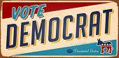 Vintage muestra del voto demócrata metal - versión de la trama