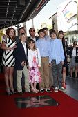 LOS ANGELES, CA - APR 5: Adam West and family at a ceremony where Adam West is honored with a star on the Hollywood Walk of Fame on April 5, 2012 in Los Angeles, California