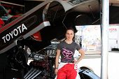LOS ANGELES - APR 3:  Kate del Castillo at the 2012 Toyota Pro/Celeb Race Press Day at Toyota Long B
