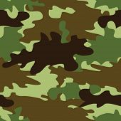 Vector illustration of camouflage seamless pattern