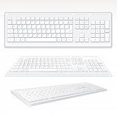 Modern Computer Keyboards, vector illustration