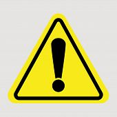 Attention Sign - Caution Alert Symbol - Exclamation Mark Illustration, Attention Icon poster