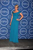LOS ANGELES - JULY 14:  Lindsey Vonn in the Press Room of the 2010 ESPY Awards at Nokia Theater - LA