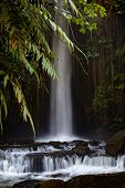 Waterfall Landscape. Beautiful Hidden Waterfall In Tropical Rainforest. Jungle River. Sumampan Water poster