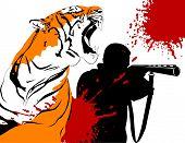 Hunter und tiger