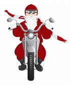 Motociclista Santa