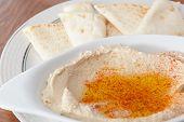 Hummus voorgerecht met Pita