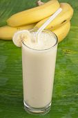refreshing banana smoothie milk shake
