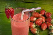 refreshing strawberry smoothie milk shake