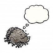 cartoon mole digging