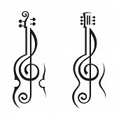 pic of treble clef  - violin - JPG