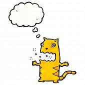 cartoon burping cat
