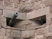 Cannons At Haut-koenigsbourg Castle
