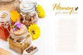 Still Life Of Fresh Honey