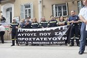 Unidentified Demonstrators In City Streets