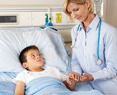 Doctor Visiting Child Patient On Ward