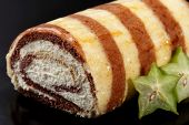 Tiramisu Cake with carambola fruit