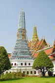 Bangkok, Thailand - Royal Palace and Wat Phra Kaeo Complex - miniature of Angkor Wat
