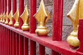 Wrought iron spike fence