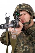 Armed Soldier With Svd