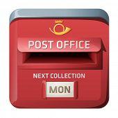 Caixa de correio do vetor. design de estilo do iOS.