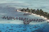 french polynesia aerial view