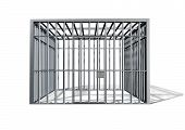 Jail Holding Cell Isolated Front