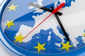 Euro Time Economic Crisis Concept