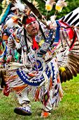 YORKTOWN HEIGHTS, NY - SEPTEMBER 25:Unidentified Native American Indian dances at the FDR Pow Wow on