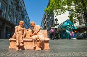 BELGRADE, SERBIA - AUGUST 15: Street art sculpture on Republic square on August 15, 2012 in Belgrade