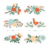 pic of floral bouquet  - Floral graphic set - JPG