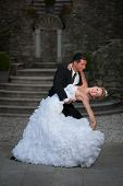 Bride and groom dancing their first dance - wedding photography