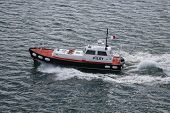 Pilot boat at St. Thomas in US Virgin Islands