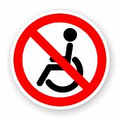 Sticker Of No Wheelchair Sign