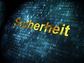 Security concept: Sicherheit(german) on digital background
