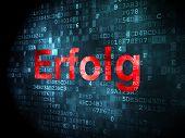 Business concept: Erfolg(german) on digital background