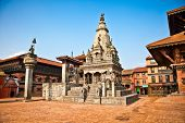 Temples of Durbar Square in Bhaktapur, Kathmandu valey, Nepal.